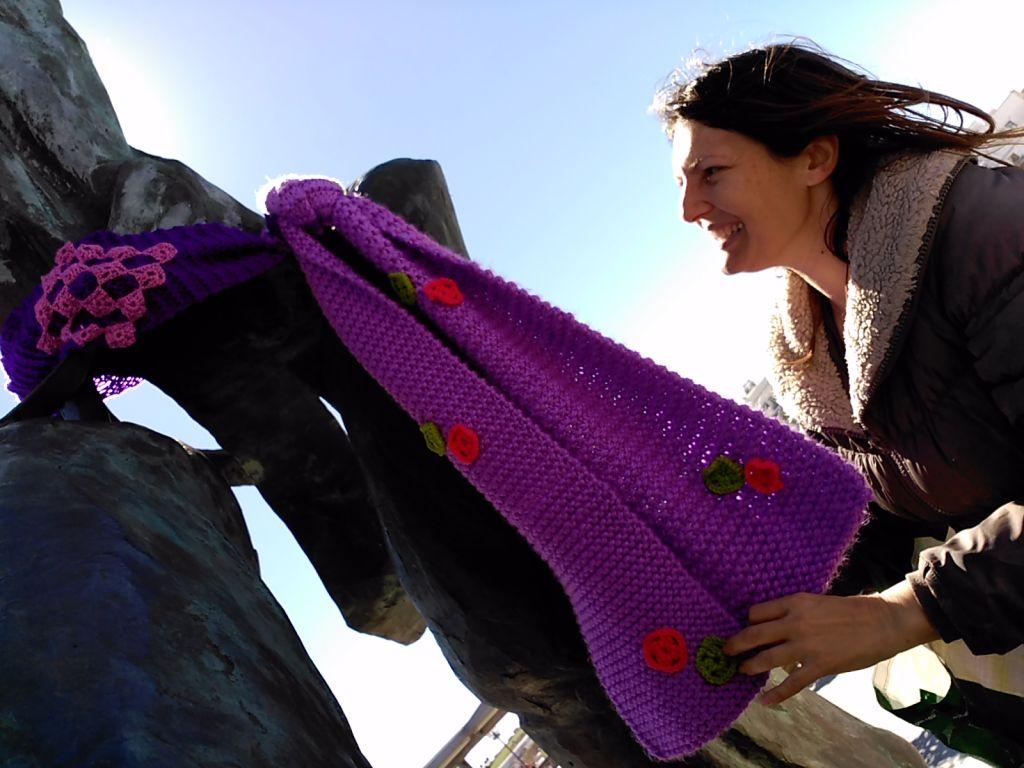 tricoteo estatuas ampa